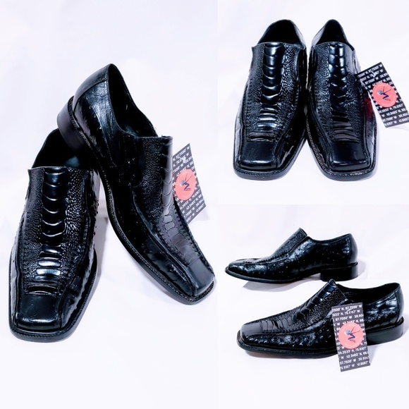 Stacy Adams Other - Stacy Adams black alligator shoes size 9.5M🦅